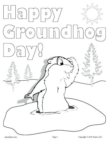 groundhog coloring pages preschool at getdrawings free
