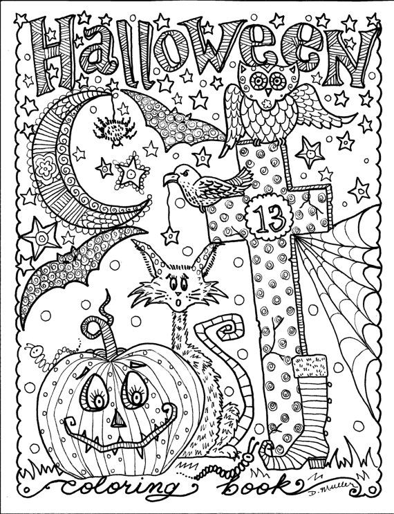 halloween coloring book full of halloween coloring fun be
