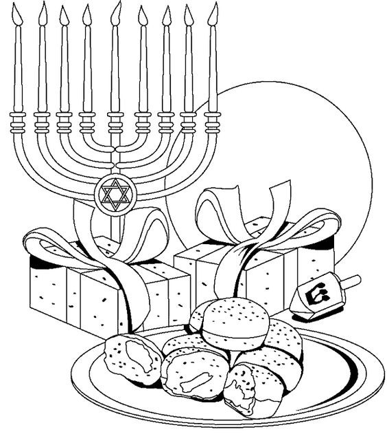hanukkah coloring book decorations