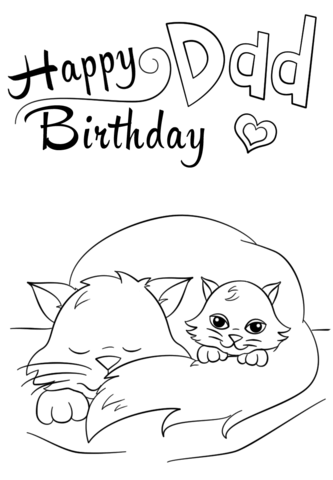 happy birthday dad free printable coloring pages