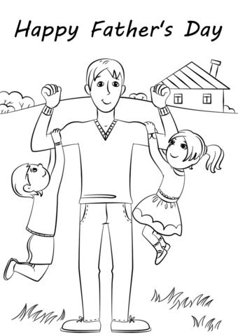 happy fathers day coloring page free printable coloring pages