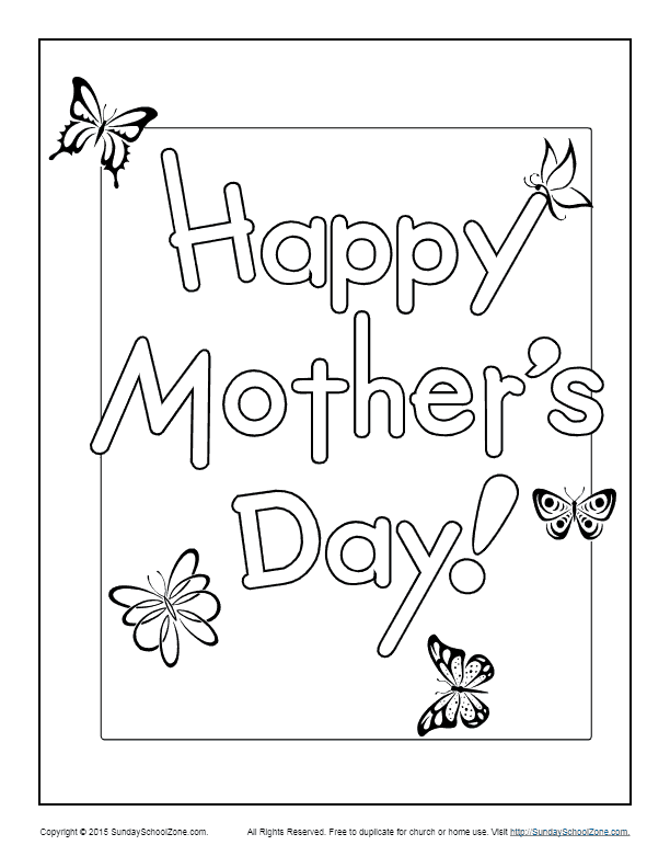 happy mothers day coloring page childrens bible