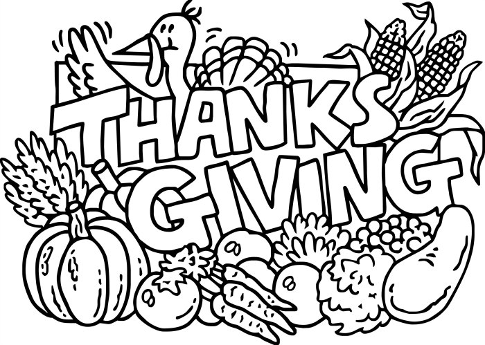 happy thanksgiving coloring pages for kids at getdrawings