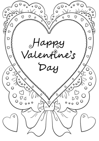 happy valentines day coloring page free printable