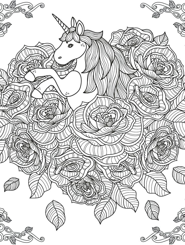 hard coloring pages of unicorns coloring pages unicorns