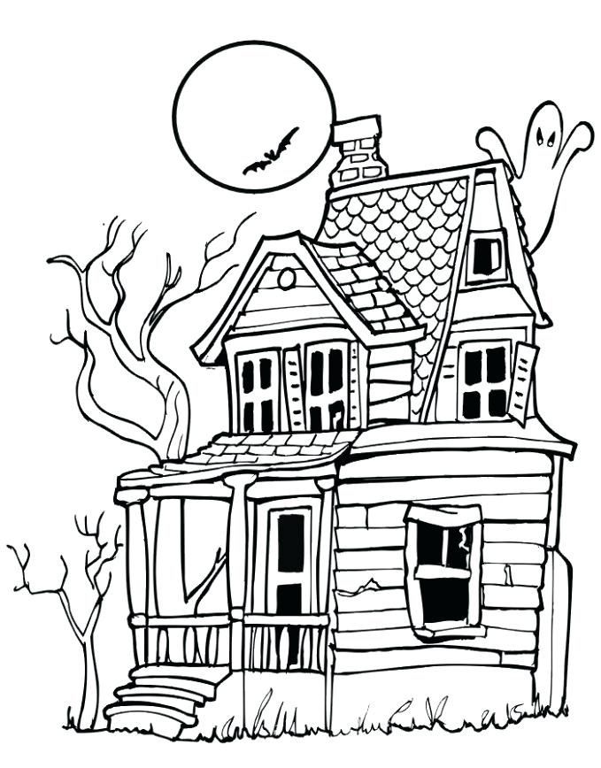 haunted mansion coloring pages template printable haunted