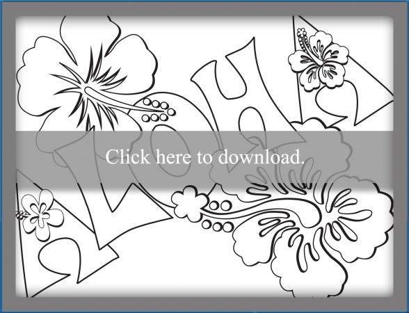 hawaii coloring pages lovetoknow