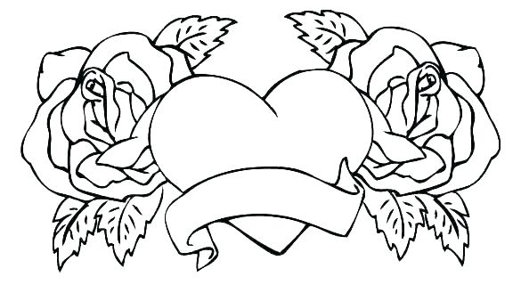 heart color page shape coloring pages free to print out