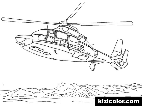helicopter 2 kizi free coloring pages for children