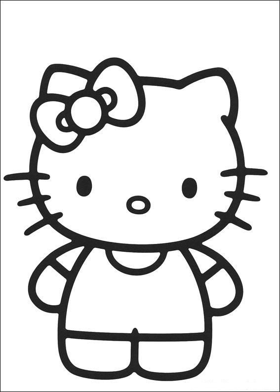 hello kitty coloring pages 1 coloring kids