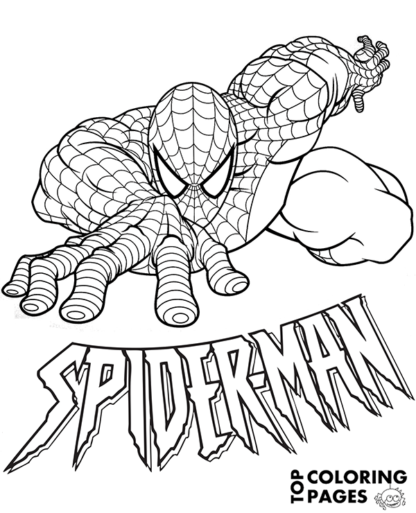 high quality amazing spiderman coloring page to print for free