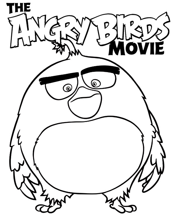 high quality bomb bird coloring page to print for free