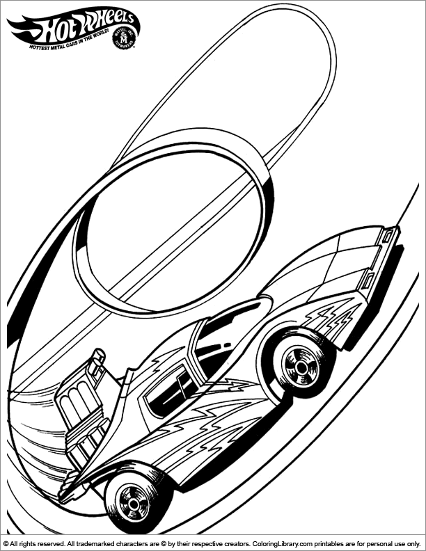 hot wheels 62 transportation printable coloring pages
