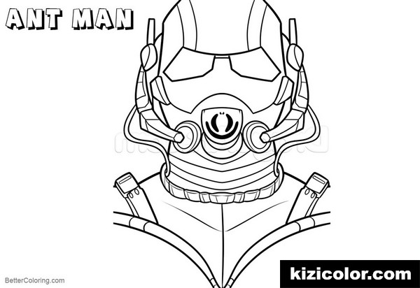 how to draw ant man kizi free coloring pages for