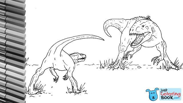 how to draw indominus rex vs indoraptor from jurassic world