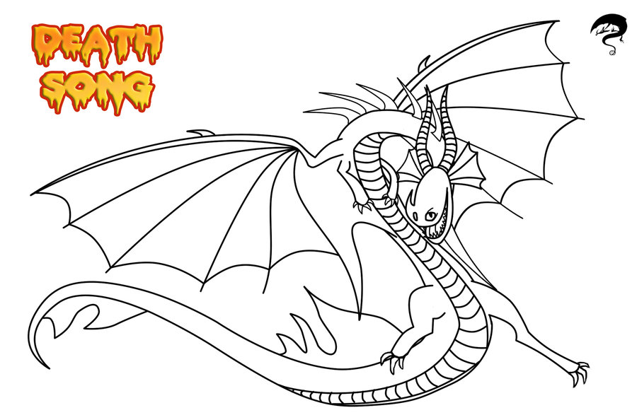 how to train your dragon coloring pages death song