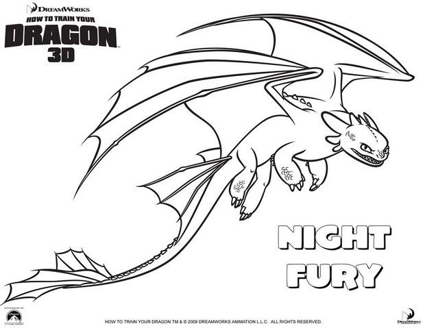 how to train your dragon coloring pages nightfury