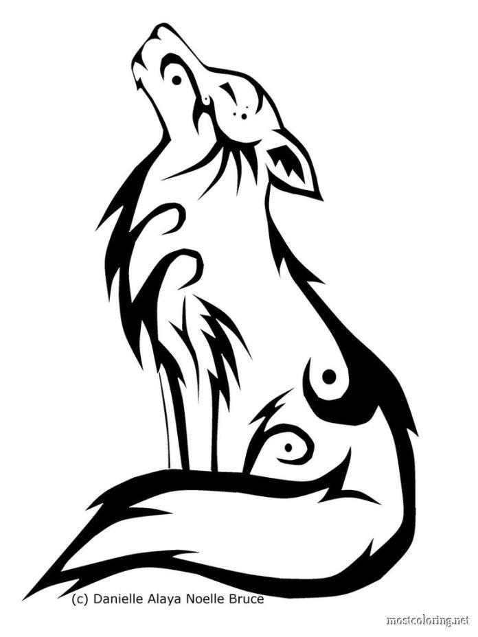 howling wolf coloring pages coloring pages printable