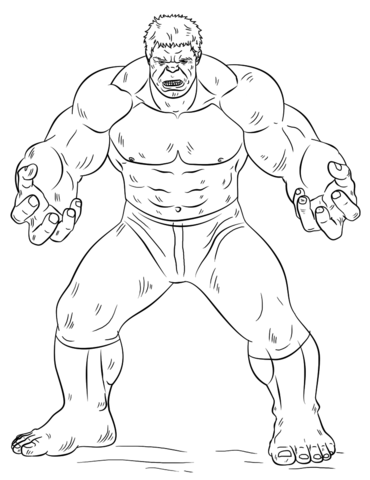 hulk coloring page free printable coloring pages