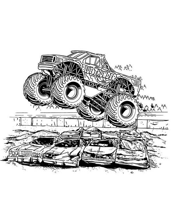 icolor little bigger boys monster truck coloring pages