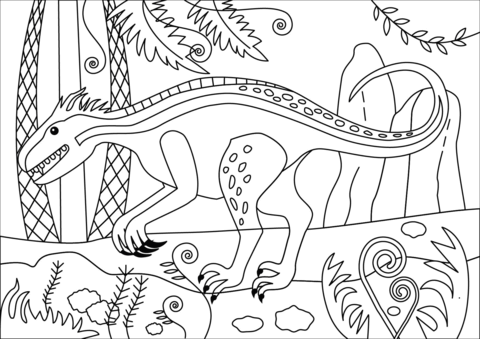 indoraptor coloring page free printable coloring pages