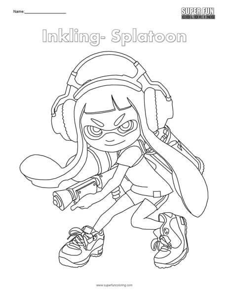 inkling splatoon coloring super fun coloring