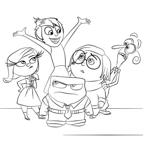 inside out all characters coloring page free printable