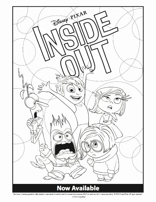 inside out coloring page fresh disney inside out coloring