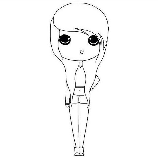 instagram chibi girl coloring pages chibi girl drawings