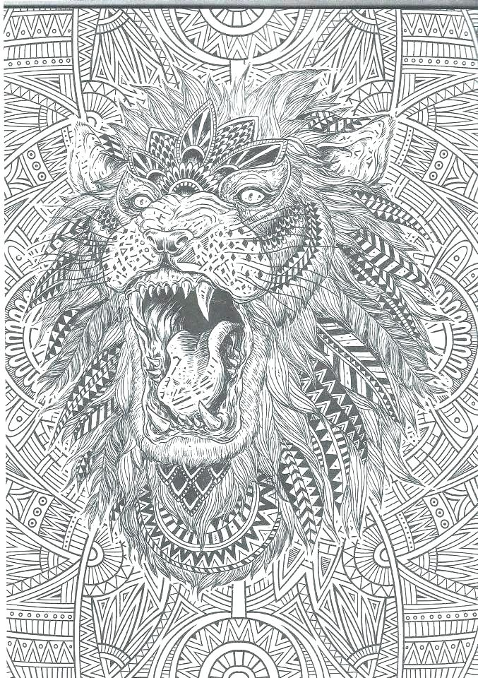intricate coloring pages for adults free abstract coloring