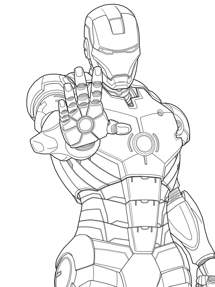 iron man marvel iron man coloring pages free printable for