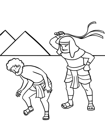 israels enslavement in egypt coloring page free printable