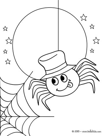 jack olantern spider coloring pages hellokids