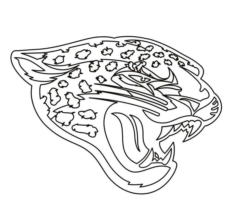 jacksonville jaguars team from nfl coloring and activity