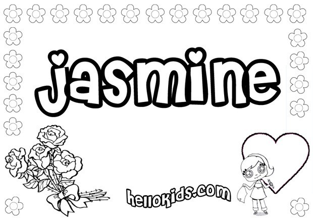jasmine coloring pages hellokids