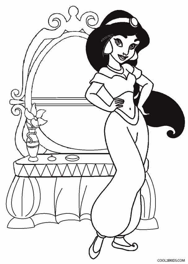 jasmine coloring pages to print
