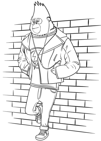 johnny from sing movie omalovnka free printable coloring