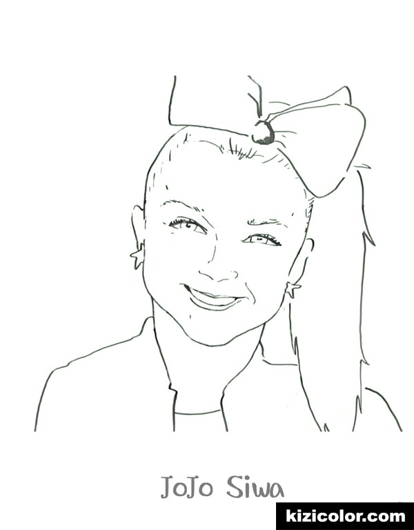 jojo siwa dance kizi free coloring pages for children