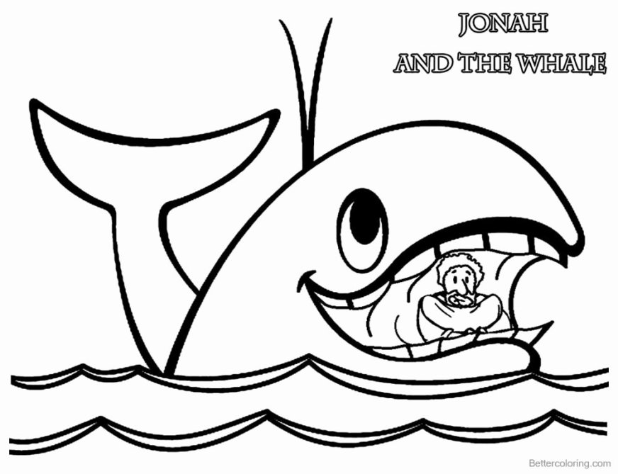 jonah and the whale coloring page beautiful jonah and the