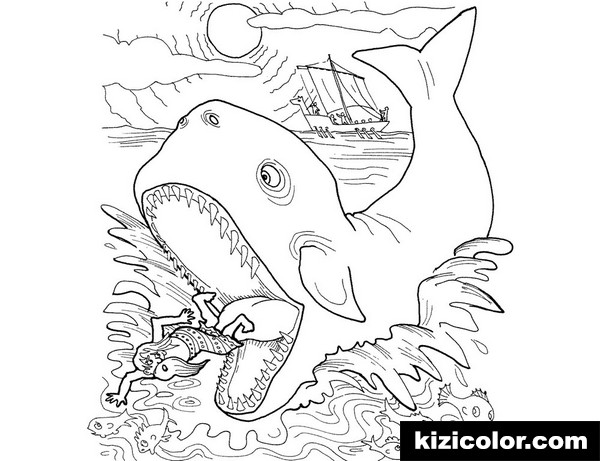 jonah and the whale pages whale swallowed jonah kizi