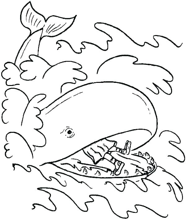 jonah coloring pages and the whale coloring pages and the