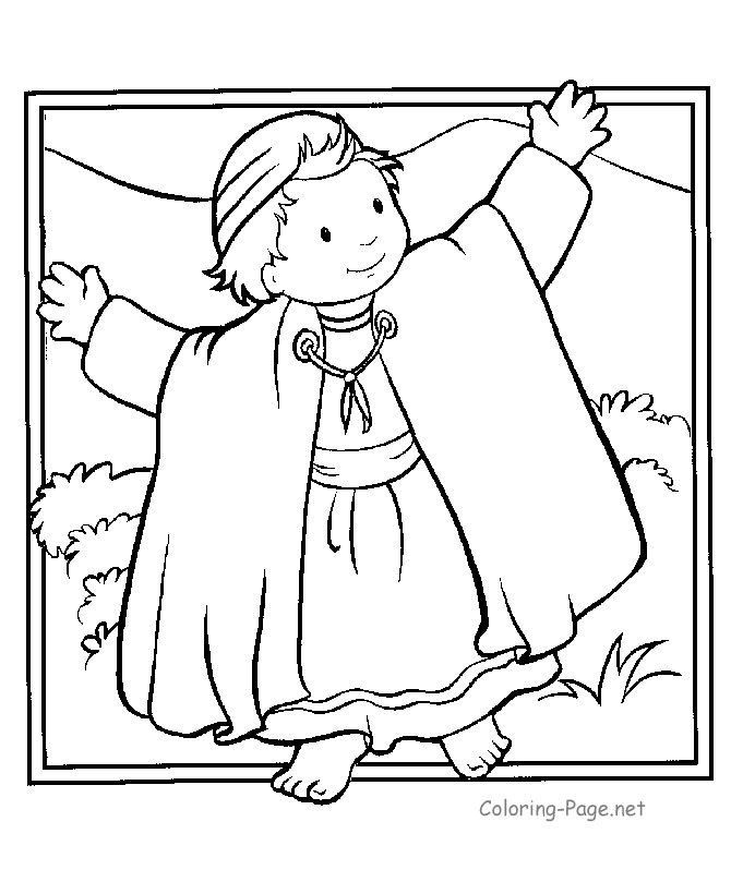 joseph coat bible coloring pages printables free coloring