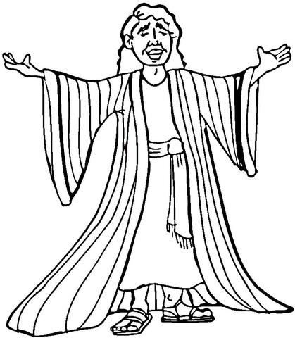 joseph many colored coat coloring page free printable