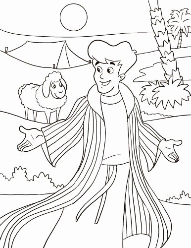josephs coat of many colors coloring page fresh coat of