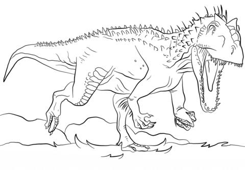 jurassic park indominus rex omalovnka free printable