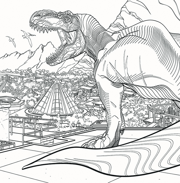 jurassic world coloring book pusat hobi