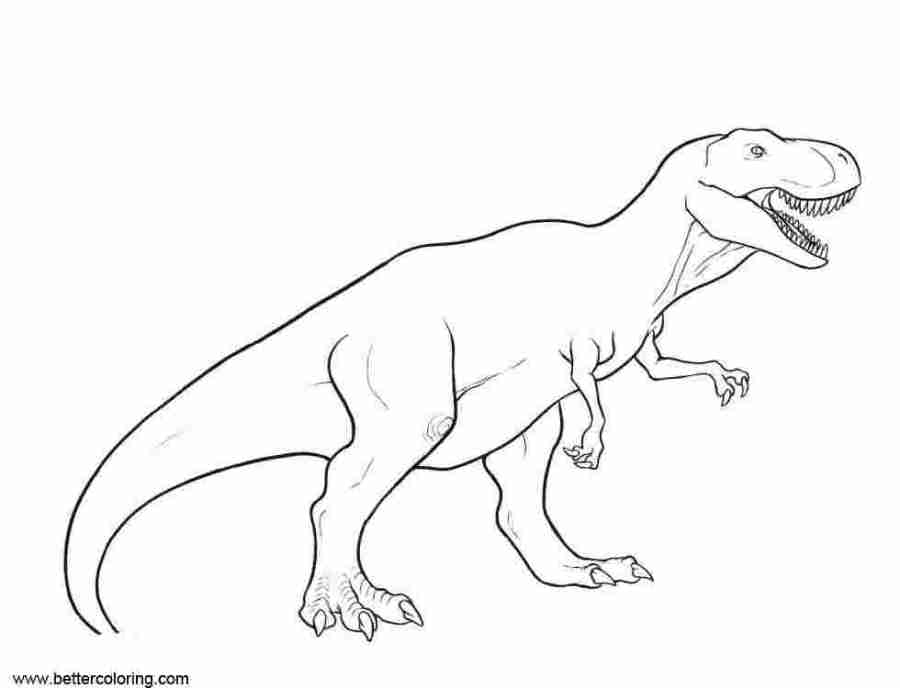 jurassic world tyrannosaurus rex coloring pages jurassic