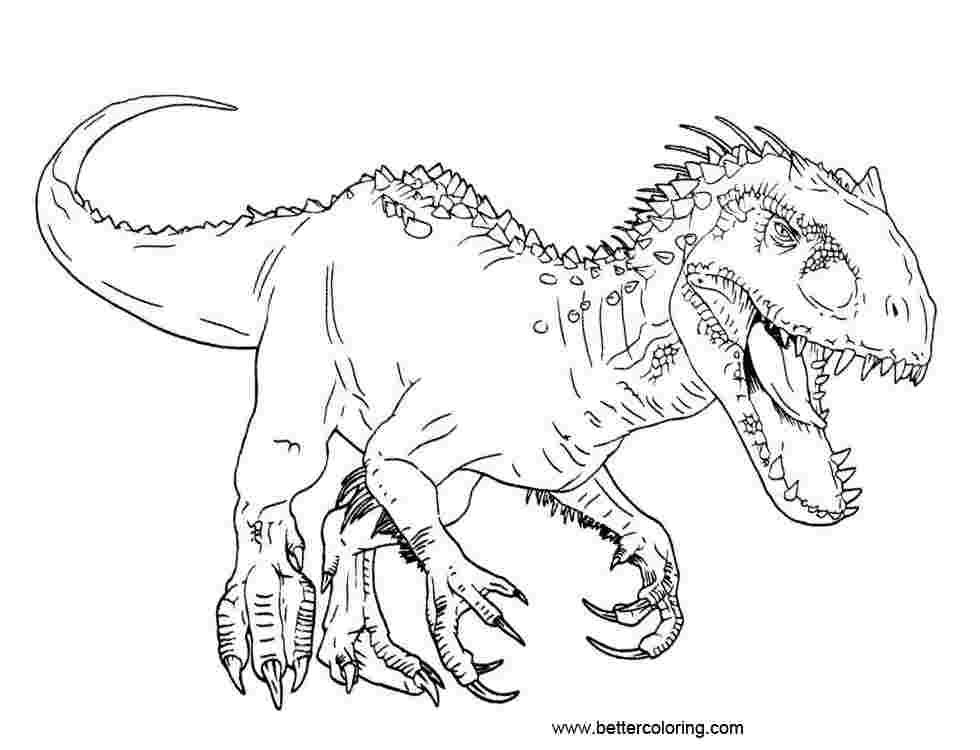 - T Rex Coloring Pages Picture - Whitesbelfast