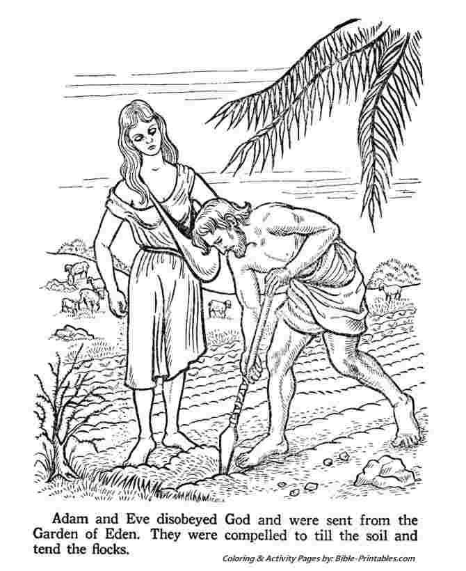 just coloring adam and eve in the garden of eden coloring