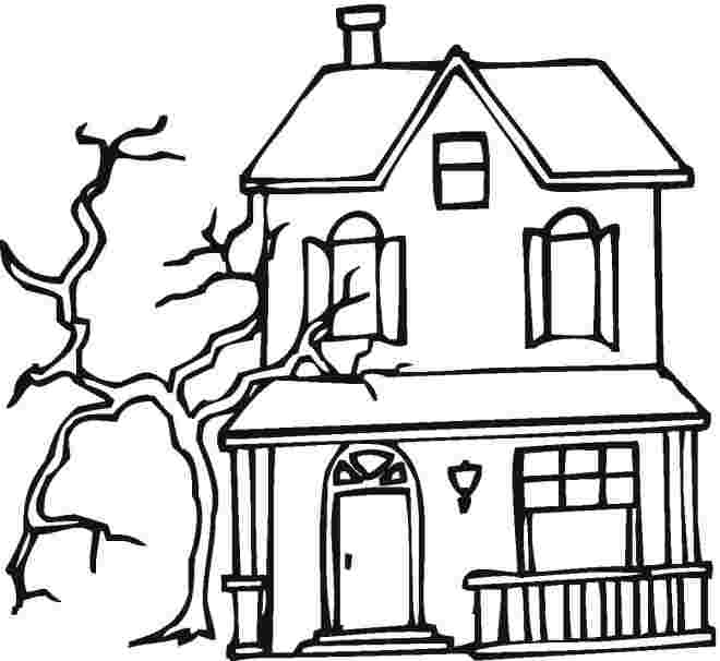just coloring free printable haunted house coloring pages